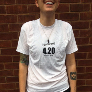 The 420 Shirt (front/white)