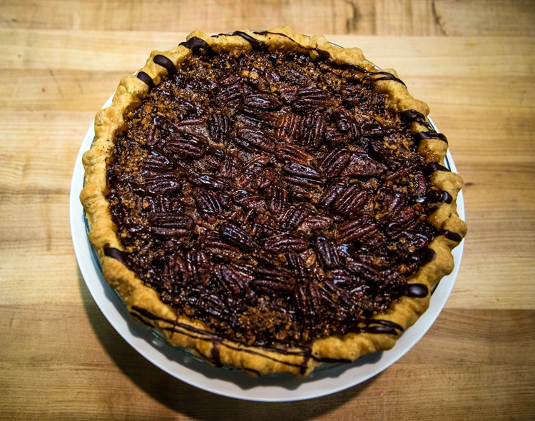 Pecan Kahlua Chocolate Chip Pie - baked & wired